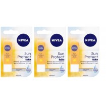 3 x NIVEA LIP CARE SUN PROTECT SPF30+