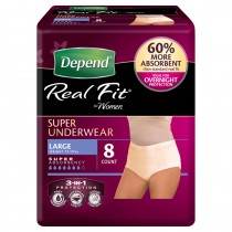 DEPEND REALFIT WOMEN LARGE (8 pack)
