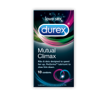 DUREX CONDOMS MUTUAL CLIMAX 10 PACK