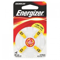 ENERGIZER HEARING AID BATTERIES AZ10 4 PACK
