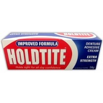 HOLDTITE ADHESIVE DENTURE CREAM 58G TUBE