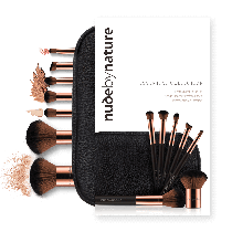 Nude by Nature 7 Pieces Brush Set & Case