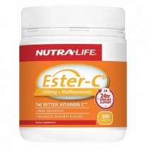 NUTRA LIFE ESTER-C & BIOFLAVONOIDS 1000MG 200 TABLETS