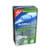 OPTREX ACTIMIST 2in1 EYE SPRAY FOR TIRED + UNCOMFORTABLE EYES 10ML SPRAY
