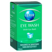 OPTREX EYE WASH + EYE BATH 110ML