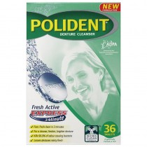 POLIDENT FRESH ACTIVE DENTURE CLEANSER EXPRESS 3 MINUTE 36 TABLETS