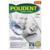 POLIDENT DENTURE WHITENING CLEANSER 36 TABLETS