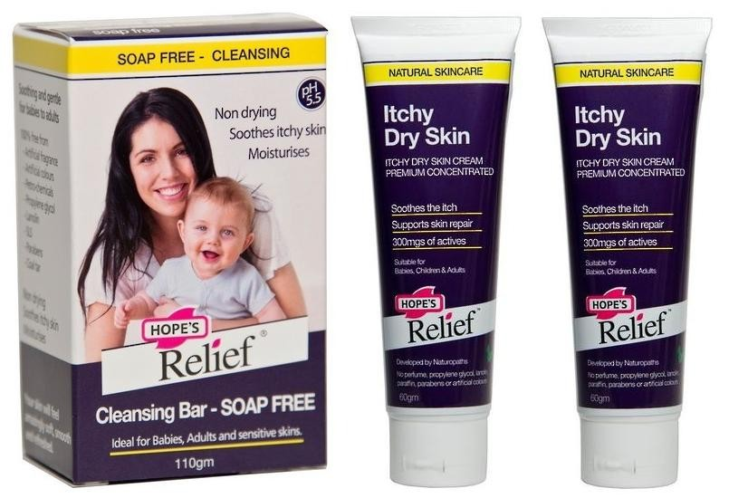 HOPE'S RELIEF CREAM 60gm & CLEANSING BAR 110gm