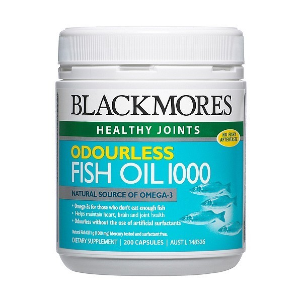 BLACKMORES FISH OIL ODOURLESS 200 CAPSULES