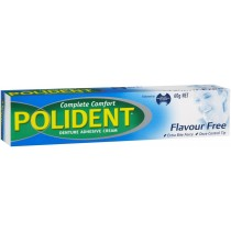 POLIDENT COMPLETE COMFORT FLAVOUR FREE 60G DENTURE ADHESIVE CREAM